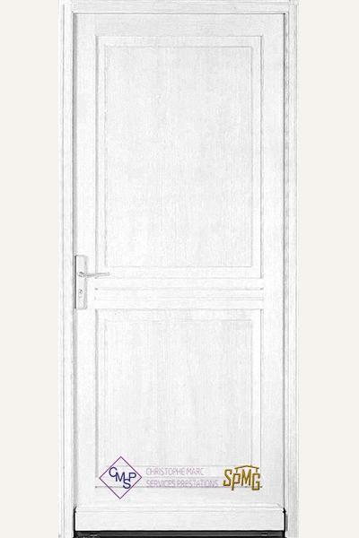 Porte entrée de base bois BOUTONNE