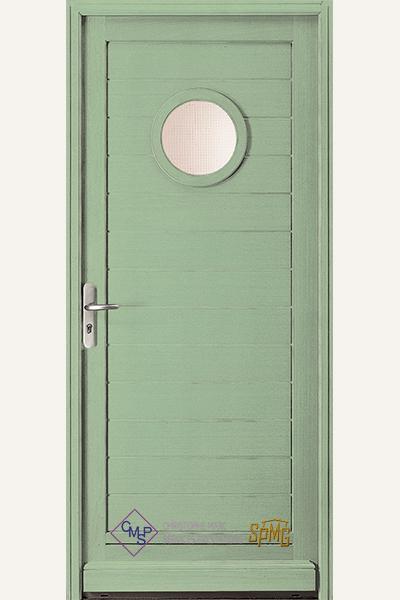 Porte entrée bois vitrée Aven