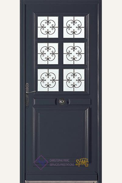 Porte entrée bois option Rubis 3