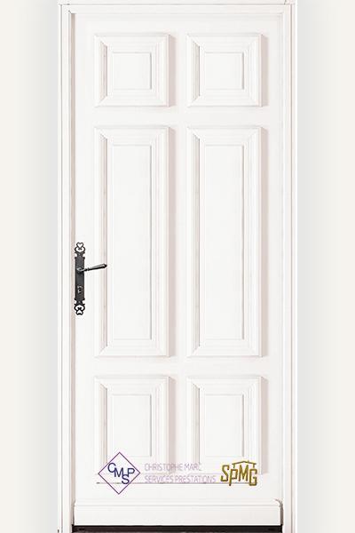 Porte entrée bois option Villandry