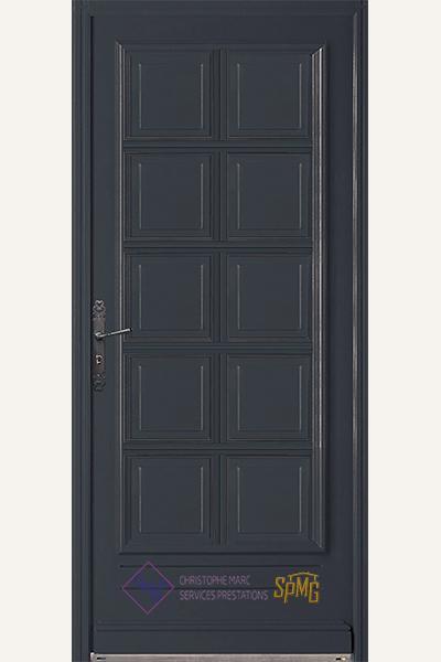 Porte entrée bois option Chaumont