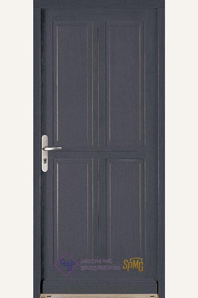 Porte entrée bois option Cisse