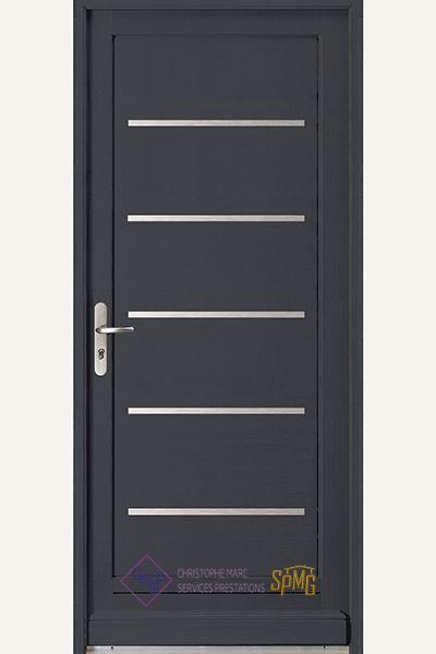 Porte entrée bois option Compact
