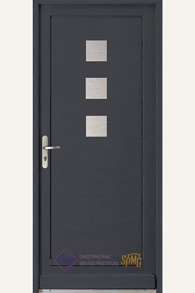 Porte entrée bois option Lurior