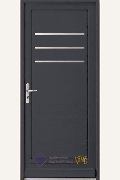 Porte entrée bois option Senso