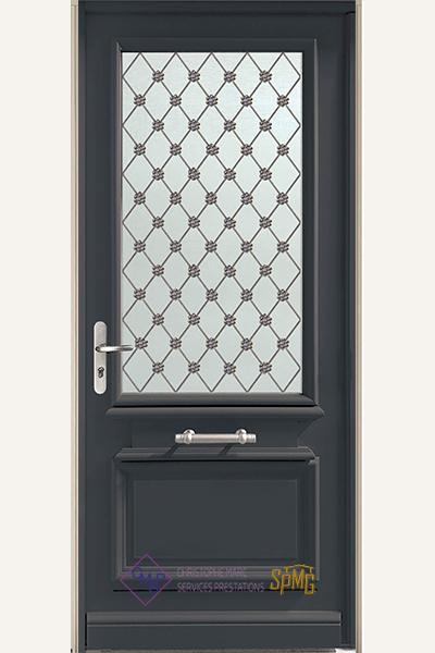 Porte entrée vitrée Obsidienne 2