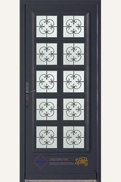 Porte entrée vitrée Vouvray 3
