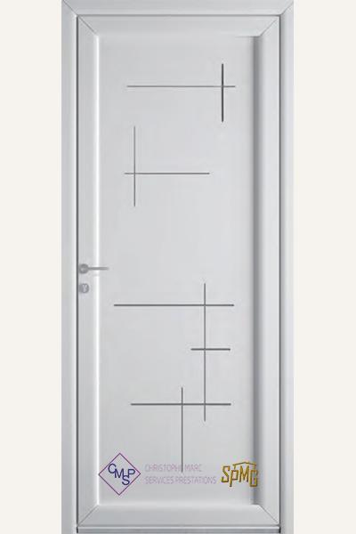 Porte entrée PVC Adage