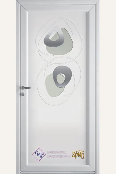 Porte entrée PVC Galante