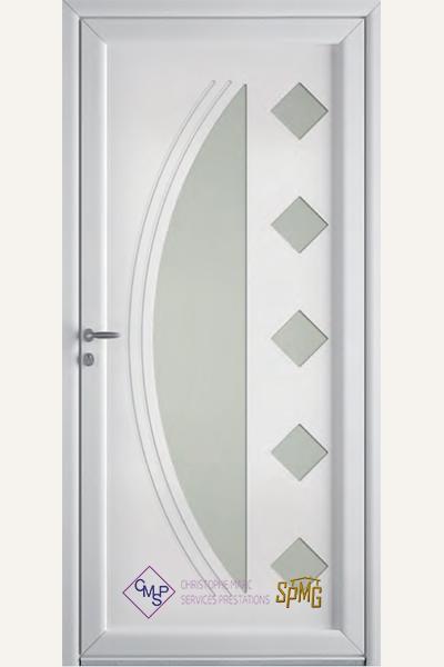 Porte entrée PVC Léman