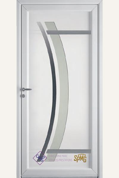 Porte entrée PVC Piana