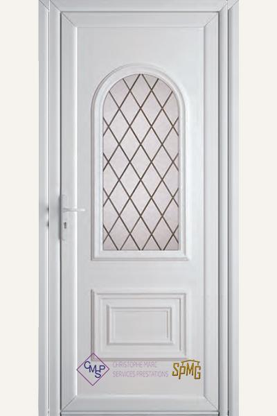 Porte entrée PVC Tess